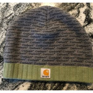 Carhartt gray and green skull cap
